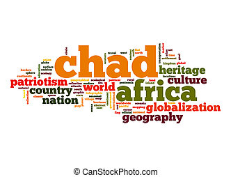 palabra, chad, nube