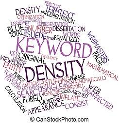 palabra clave, densidad
