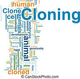 palabra, clonación, nube