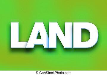 palabra, concepto, arte, colorido, tierra