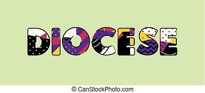 palabra, concepto, arte, ilustración, diocese