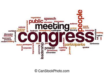 palabra, congreso, nube