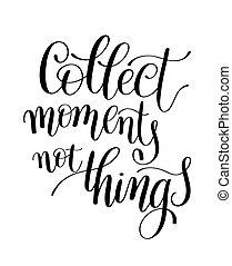 palabra, cosas, momentos, cita, /, recoger, vector, il, no,...