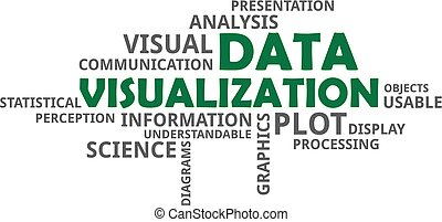 palabra,  -, datos, nube, visualización