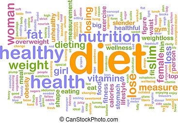 palabra, dieta, nube