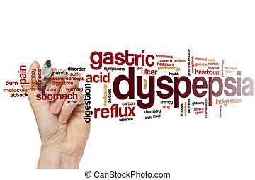 palabra, dyspepsia, nube