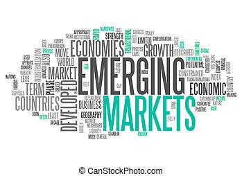 palabra, el emerger, mercados, nube