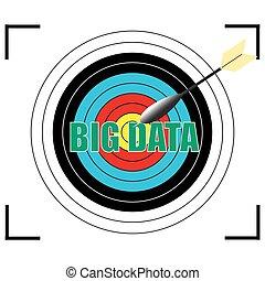 palabra, empresa / negocio, grande, concepto,  vector, datos