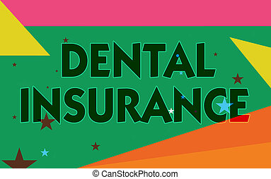 palabra, escritura, texto, dental, insurance., concepto de...