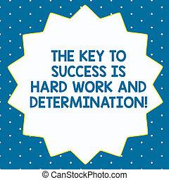 palabra, escritura, texto, el, adapte al éxito, es, trabajo duro, y, determination., concepto de la corporación mercantil, para, dedicación, trabajando, mucho, catorce, 14, puntiagudo, forma estrella, con, delgado, contorno, zigzag, efecto, polygon.