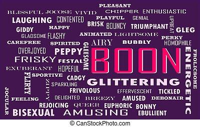 palabra, estilo de vida, illustration., nube, vector
