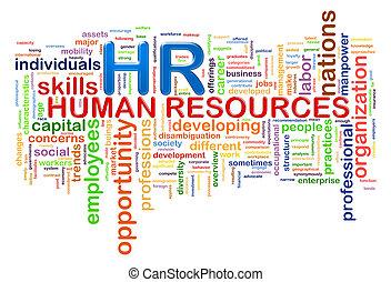palabra, etiquetas, hora, wordcloud, recursos humanos