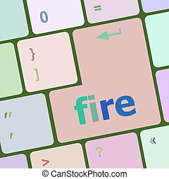 palabra, fuego, botón, teclado, cuaderno, llave, computadora