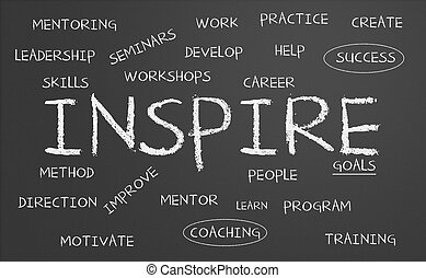 palabra, inspirar, nube