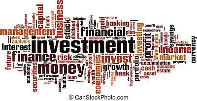 palabra, inversión, nube