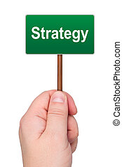 palabra, isolated., asideros, señal, estrategia, mano