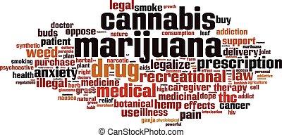 palabra, marijuana, nube