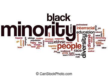 palabra, minoría, nube