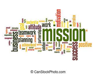palabra, misión, nube