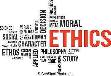 palabra, nube, -, éticas