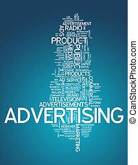 """palabra, nube, """"advertising"""""""
