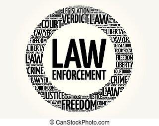 palabra, nube, aplicación, ley