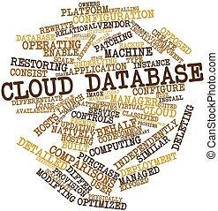 palabra, nube, base de datos