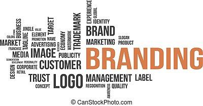 palabra, nube, -, branding