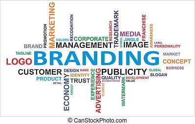 palabra, -, nube, branding