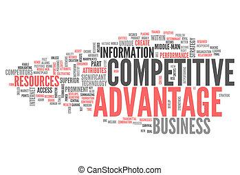 palabra, nube, competitivo, ventaja