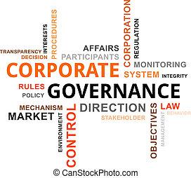 palabra, nube, -, corporativo, gobierno