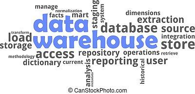 palabra, nube, -, datos, almacén