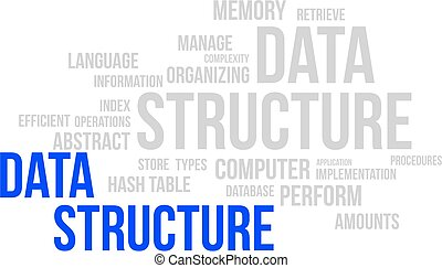 palabra, nube, -, datos, estructura
