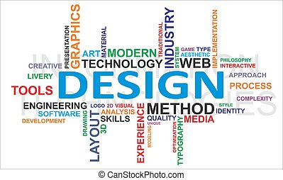 palabra, nube, -, diseño