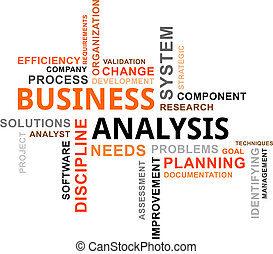 palabra, nube, -, empresa / negocio, análisis