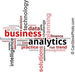 palabra, -, nube, empresa / negocio, analytics