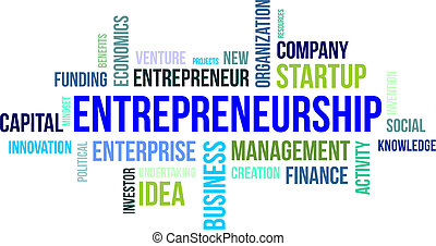 palabra, -, nube, entrepreneurship
