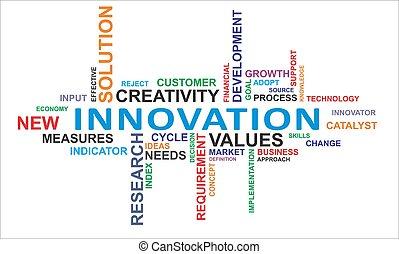 palabra, nube, -, innovación