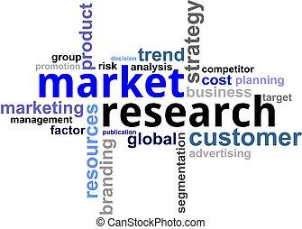 palabra, -, nube, investigaciónde mercado
