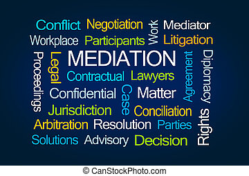 palabra, nube, mediación