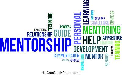 palabra, nube, -, mentorship