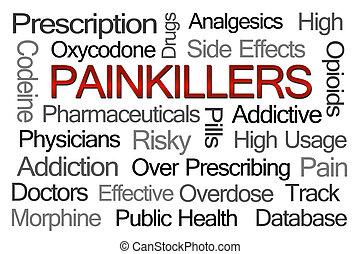 palabra, nube, painkillers