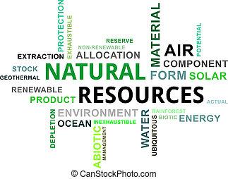 palabra, nube, -, recursos naturales