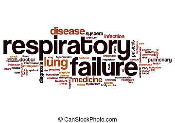 palabra, nube, respiratorio, fracaso