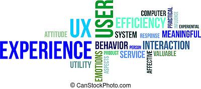 palabra, nube, -, usuario, experiencia