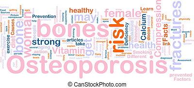 palabra, osteoperosis, nube