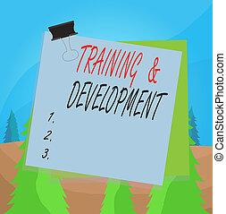 palabra, perforanalysisce, escritura, papel de nota, concepto, entrenamiento, clip, pegado, conocimiento, mejorar, aprender, supply., oficina, carpeta, development., plano de fondo, empresa / negocio, texto, colorido, específico, recordatorio