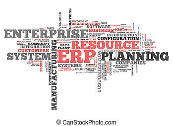 palabra, planificación, recurso, nube, empresa