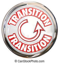 palabra, proceso, botón, transición, blanco, icono, cambio,...