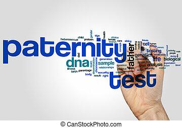 palabra, prueba, paternidad, nube
